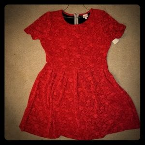Red Lularoe Amelia Dress
